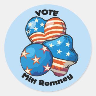 Vote for Mitt Romney Stickers
