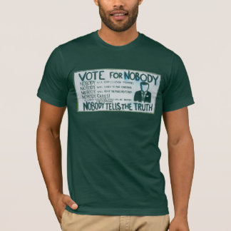 Vote for Nobody American Apparel Forest Green Tee