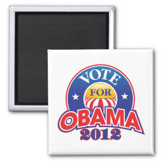 Vote for Obama 2012 Square Magnet