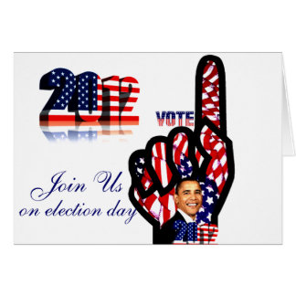 Vote for Obama #2_ Greeting Cards