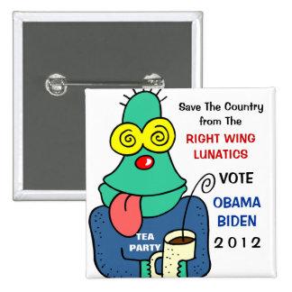 Vote For Obama Biden campaign button