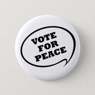 Vote for Peace Button