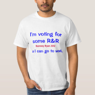 Vote for R&R. Romney Ryan 2012. Tshirts