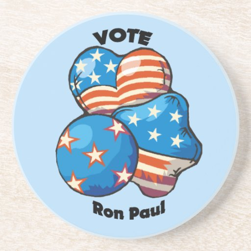 Vote for Ron Paul Drink Coasters