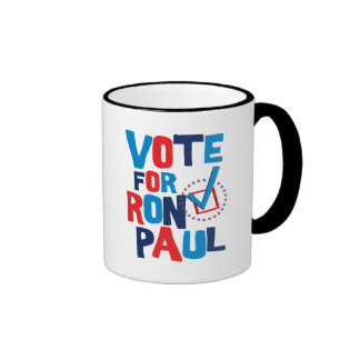Vote For Ron Paul Election 2012 Ringer Coffee Mug