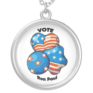 Vote for Ron Paul Round Pendant Necklace