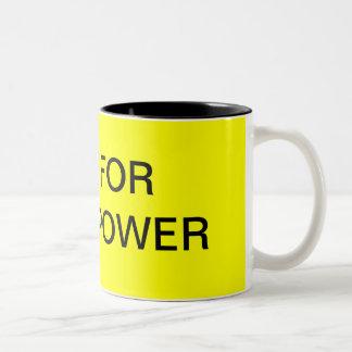 VOTE FOR SOLAR POWER Two-Tone COFFEE MUG