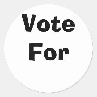 Vote For Classic Round Sticker