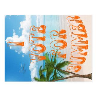 VOTE FOR SUMMER postcard