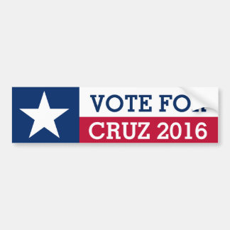 Vote For Ted Cruz 2016 Election Texas Flag Bumper Sticker