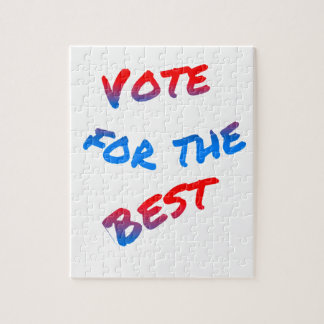 Vote for the best, elections jigsaw puzzle