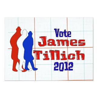 Vote For Tillich 13 Cm X 18 Cm Invitation Card