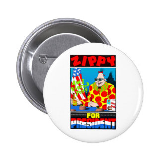 Vote For Zippy 6 Cm Round Badge