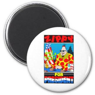 Vote For Zippy 6 Cm Round Magnet