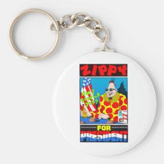 Vote For Zippy Basic Round Button Key Ring