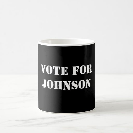 VOTE FORJOHNSON COFFEE MUG