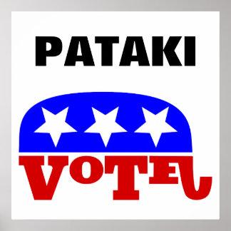 Vote George Pataki Republican Elephant Poster