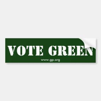 VOTE GREEN BUMPER STICKER