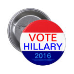 VOTE HILLARY 2016 BUTTONS