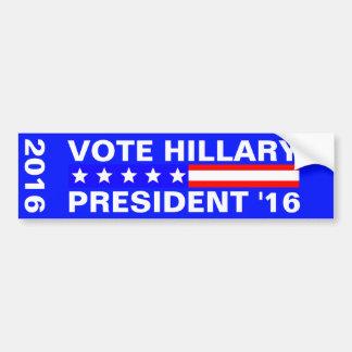 Vote Hillary 2016 Presidential Election Bumper Sticker