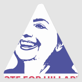 vote hillary clinton 2016 triangle sticker