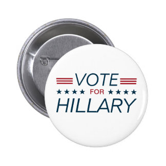 Vote Hillary for President 2016 6 Cm Round Badge