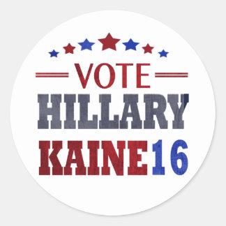 VOTE Hillary Kaine - Election 2016 Round Sticker