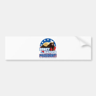Vote Honey Badger For President Bumper Stickers