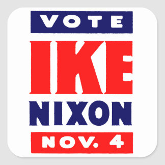 Vote Ike, Nixon in 1952 Square Sticker