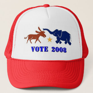 VOTE IN 2008 TRUCKERS CAP HAT DEMOCRAT REPUBLICAN
