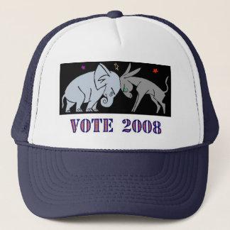 VOTE IN 2008 TRUCKERS HAT CAP REPUBLICAN DEMOCRAT