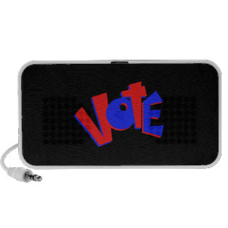 VOTE in red and blue text bouncy election swag Portable Speakers