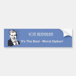 Vote independent bumper sticker