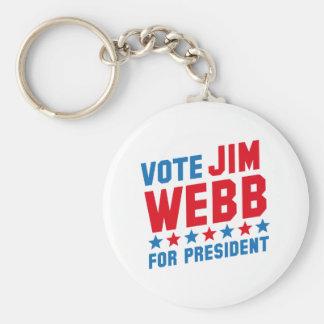 Vote Jim Webb Key Ring