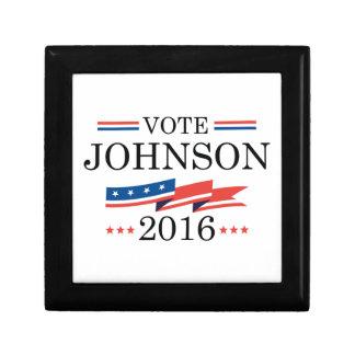 Vote Johnson 2016 Small Square Gift Box