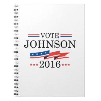 Vote Johnson 2016 Spiral Note Book