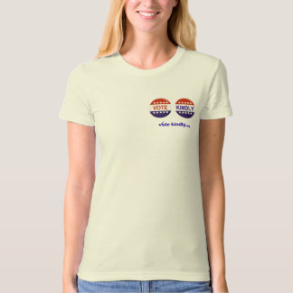 Vote Kindly Buttons Organic Tee