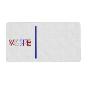VOTE SHIPPING LABEL