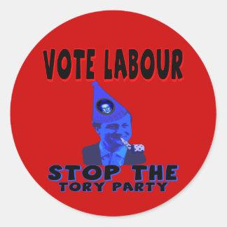 Vote Labour Classic Round Sticker