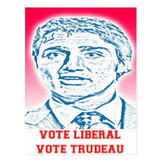 Vote Liberal Vote Trudeau Postcard