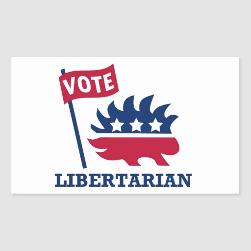 VOTE LIBERTARIAN - freedom/liberty/constitution Rectangular Sticker