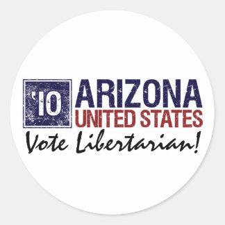 Vote Libertarian in 2010 – Vintage Arizonaa Sticker