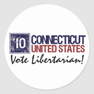 Vote Libertarian in 2010 – Vintage Connecticut Stickers