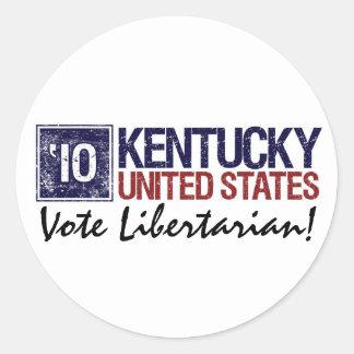 Vote Libertarian in 2010 – Vintage Kentucky Round Sticker