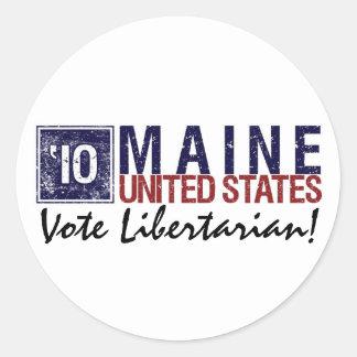 Vote Libertarian in 2010 – Vintage Maine Round Sticker