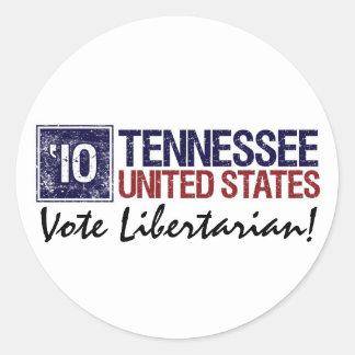 Vote Libertarian in 2010 – Vintage Tennessee Sticker