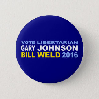 Vote Libertarian Johnson-Weld 2016 6 Cm Round Badge