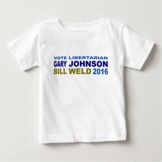 Vote Libertarian Johnson-Weld 2016 Baby T-Shirt