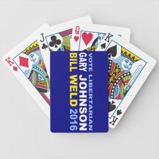 Vote Libertarian Johnson-Weld 2016 Poker Deck
