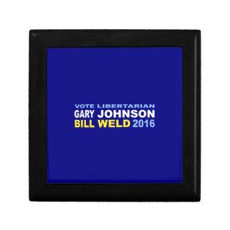 Vote Libertarian Johnson-Weld 2016 Small Square Gift Box